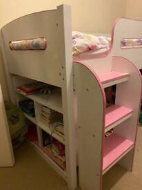 Kids bed with mattress in excellent condition