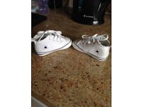 White baby converse size 3