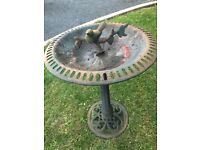 Cast iron bird bath