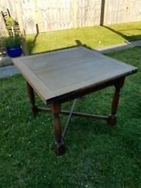Mahogany draw leaf dining table