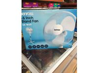 """Benross stand fan 16"""" oscillating bran new in box very high quality"""