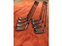 Taylormade PSI Golf irons with KBS stoiff shafts 3-PW