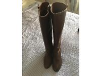 Knee length ladies brown boots