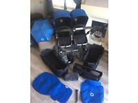 Bugaboo Donkey Twin Pram with extras in excellent clean condition