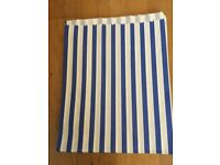 Blue & white candy stripe paper bags