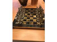 Chess set and base
