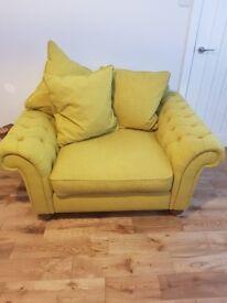Mustard green chair