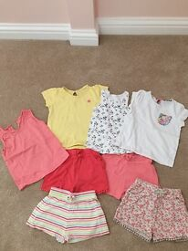 Girls summer tops and shorts