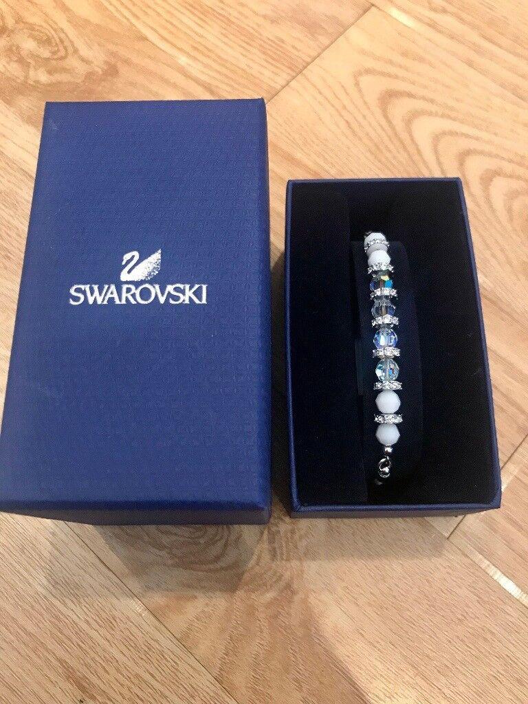 Swarovski Pearl & White Stone Bead Bracelet