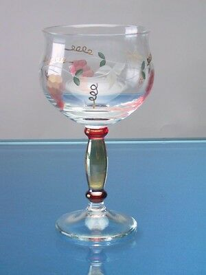 Georgio Romanian-Crystal White Wine Glass Glassware-Barware 5.5 in. 8 oz. Set-4