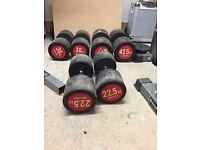 Bodymax rubber dumbbells (22.5kg, 30kg, 42.5kg)
