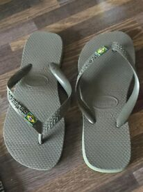 havaianas Brasil Flip Flops. Size 35-36 (UK 3). Can post or collect from Torquay. £3.