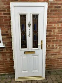 Upvc white composite front door 900 x 2100