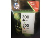 2 pack HP Printer Ink 300