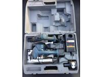 Power Tool Sets/ryobi-1440-14.4v-cordless-circular-saw drill-driver-set-in-carry Case.