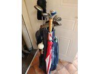 Full set golf clubs + bag + accessories
