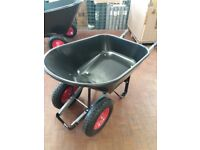 Plastis twin wheeled 100l barrow