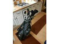 ram black series golf set with nike shoes size 9