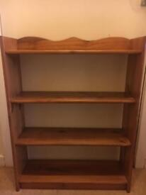 Pine bookcases x2 - sold pending collection