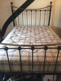 Victorian style metal double bed