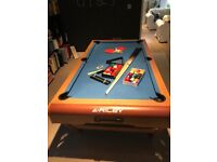 Riley 6ft W Leg Folding Snooker/Pool/Table Tennis Table and Accessories