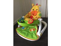 Fisher price sit-me-up feeding booster seat (giraffe)