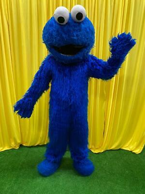USED Cookie Monster Mascot Costume Sesame Street Party Character Birthday Event