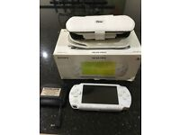 PSP white hand held console