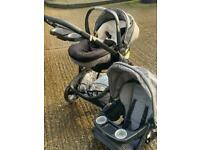 Graco Click Connect Stroller System- GREAT VALUE from infant to toddler- with rain guard, muffler