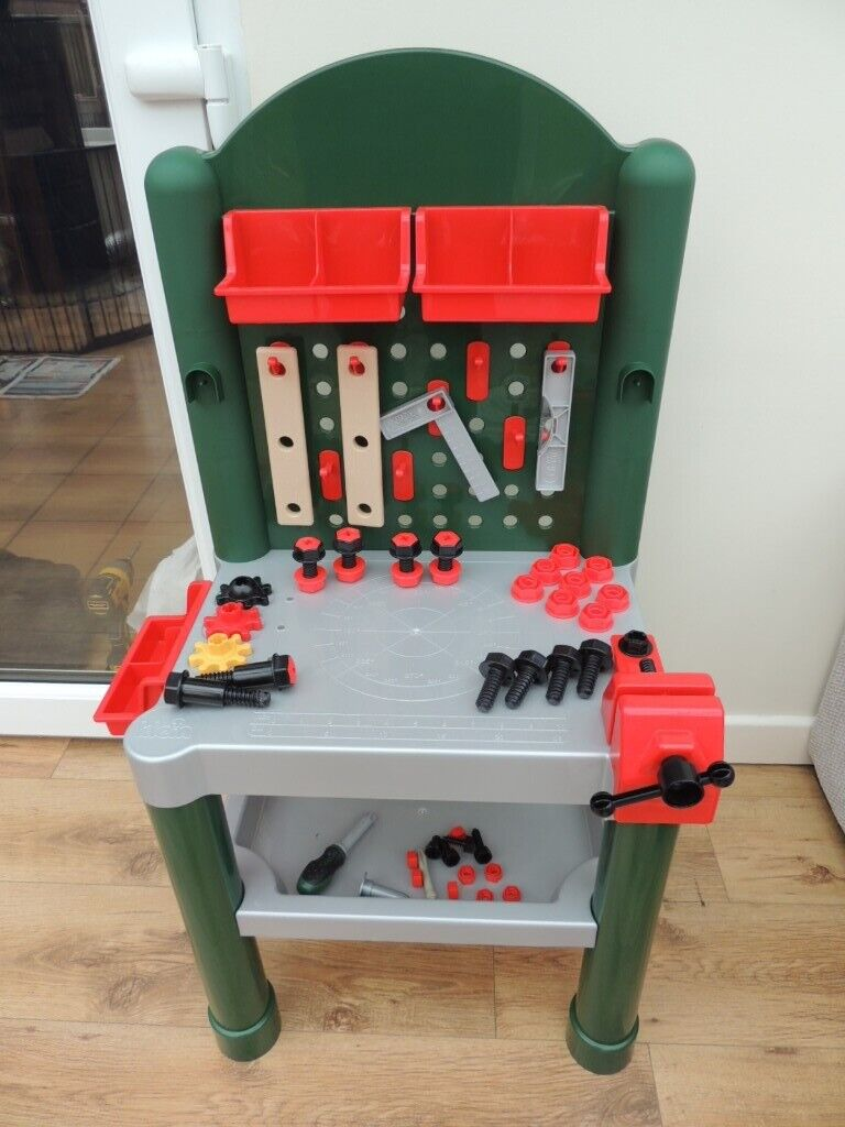 Remarkable Work Bench Tool Bench Childs Todders Workbench In Plastic With Tools And Accessories In Hockley Essex Gumtree Creativecarmelina Interior Chair Design Creativecarmelinacom