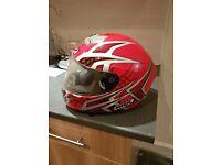 Motor cycle helmet with dust bag