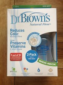 DR BROWN'S NATURAL FLOW BABY BOTTLES ** BRAND NEW IN BOX**