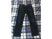 Men's River Island Slim Fit Navy Blue Jeans Size 30S