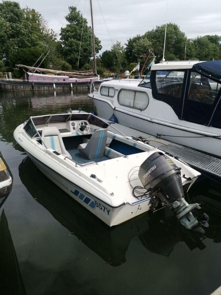 Fletcher 15ft Speedboat (25HP) + Thames Mooring