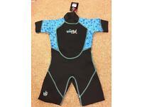 Blue junior wetsuit. 110-120cm height.