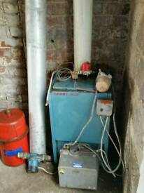 Grant 50 - 90 Euroflame oil boiler and Burner