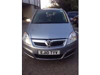 PCO 2010 VAUXHALL ZAFIRA 1.9 CDTi 5DR AUTO DIESEL WITH CCTV CAMERA BACK AND FRONT