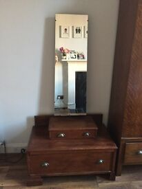 Vintage Art Deco mirror with drawer