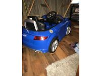 Audio tt blue kids 12v car cheap