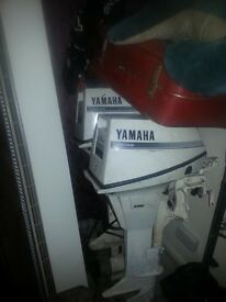 Yamaha 9.9hp outboard plus control an yammy tank n lines