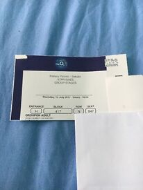 Star Sixes Ticket for Thursday 13 July