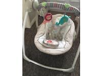 Bright Starts cosy kingdom portable baby swing