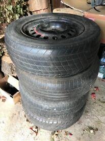 FREE - 4 x 195/65 ir 185/65 tyres