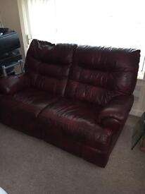 Quality Leather Fully Electric Recliner -2 seat