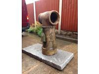 Antique vented chimney pot