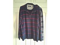 2 x Blue Harbour M&S Long Sleeve Polo Shirts XL Size 100% Cotton