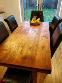 Barker & Stonehouse solid wood dining table