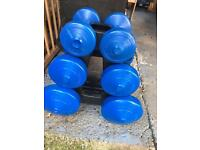Dumbell weights and stand