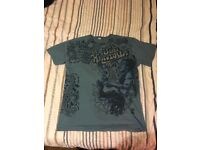 New Authentic Jimi Hendrix 1969 Psychedelic Style Mens T-Shirt Medium Light Blue / Navy Print - £20