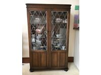 Oak display cabinet - free to a good home!
